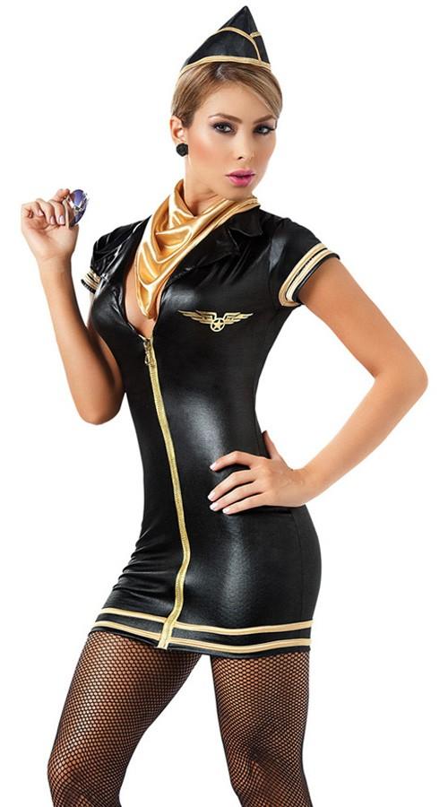 Svart Flyvertinne Kostyme Dame