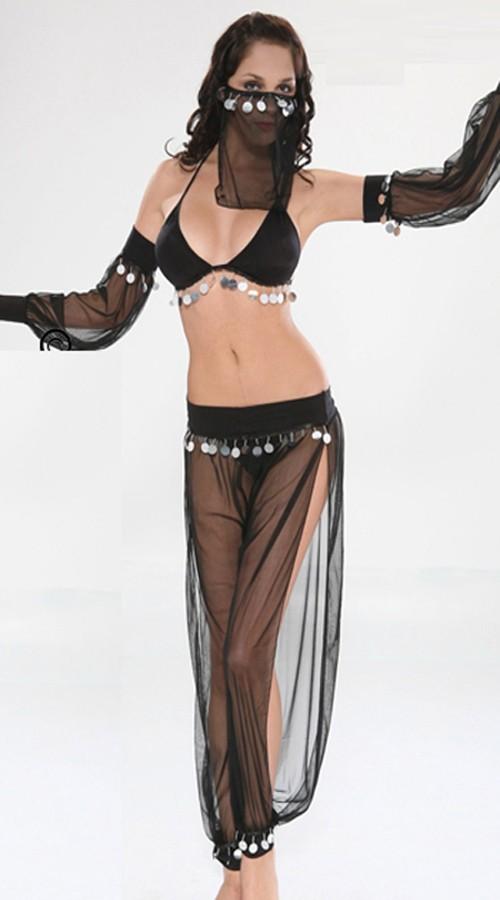 Arabisk Mage Danser Kostyme Svart