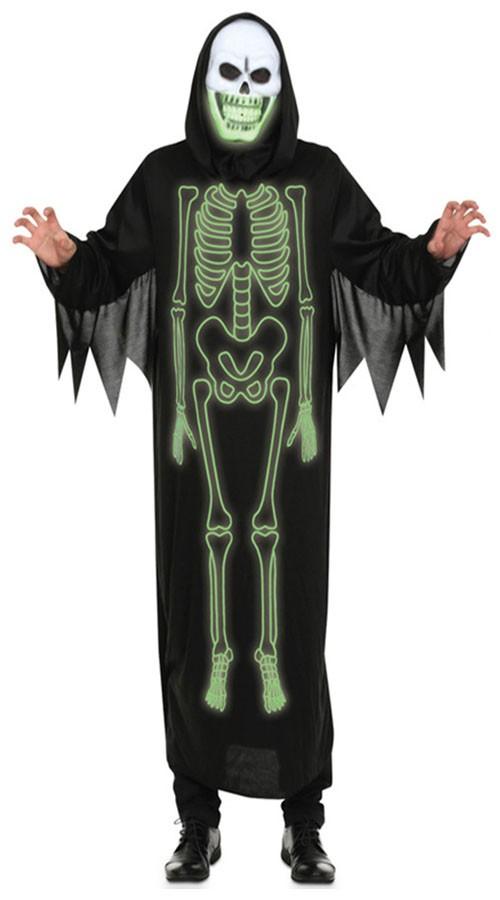 Spøkelse Hette Skjelett Kostyme Mann Karnevalkostyme