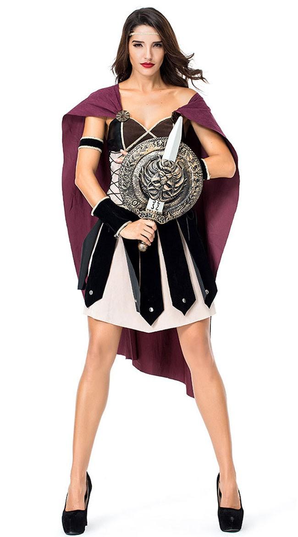 Strålende Romersk Gladiatorkostyme Dame