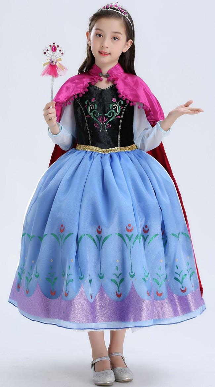 Deluxe Frozen Anna Kostyme Barn Prinsessekjole