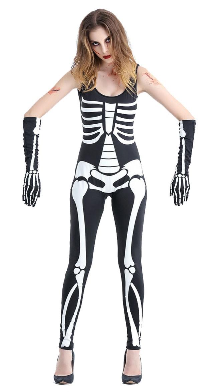 Halloween Skremmende Skjelett Kostyme Dame