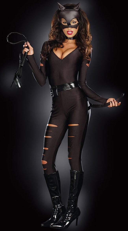 Sexy Natt Prowler Catwoman Kostyme