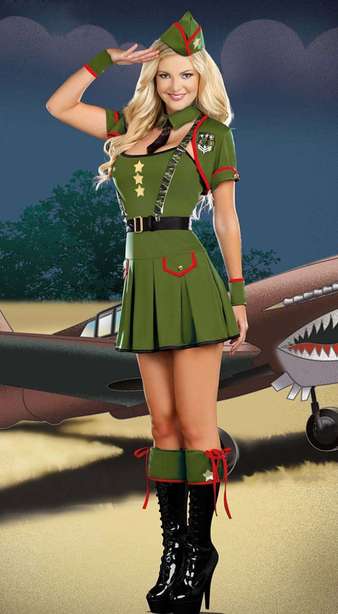 Grønne Stjerner Militær Kostyme