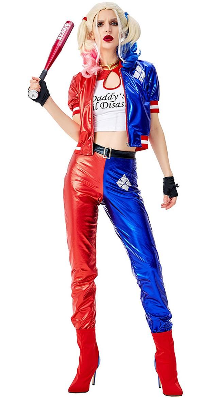 Halloween Suicide Squad Harley Quinn Kostyme Dame Sett