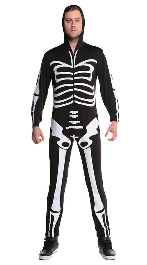 Halloween Skremmende Skjelett Kostyme Herre