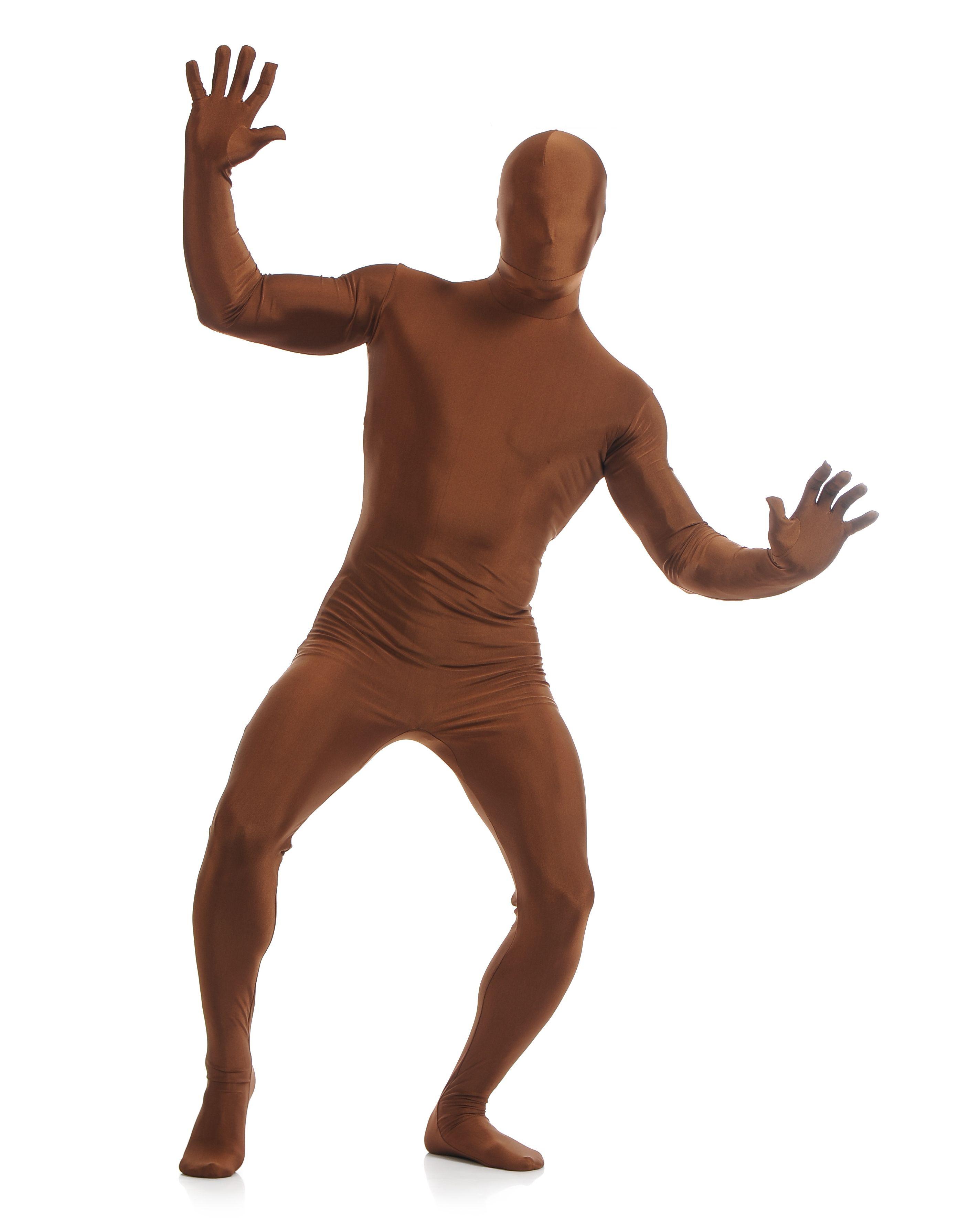 Morphsuit Skinsuit Lycra Spandex Drakt Heldekkende Herre Sjokolade