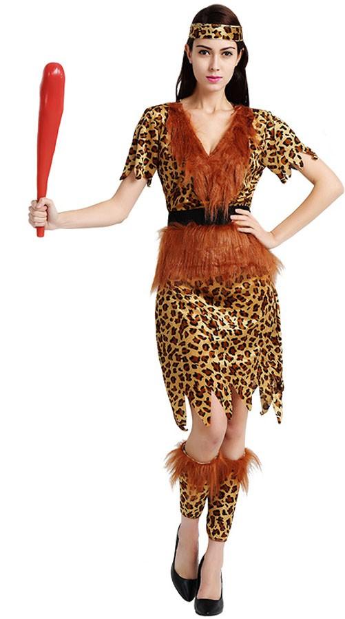 Halloween Leopard Indianer Kostyme Dame