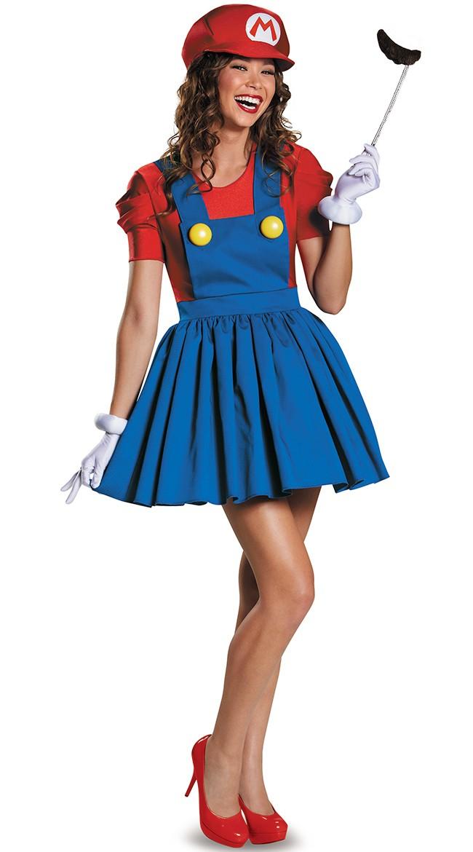 Voksen Super Mario Kostymer Rørlegger Kostyme Dame