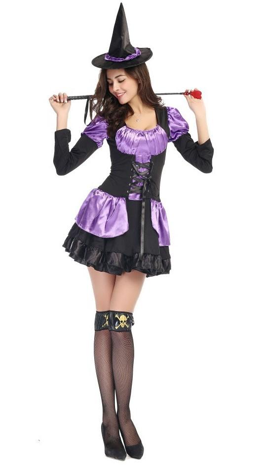 Lilla Nydelig Halloween Heks Kostyme