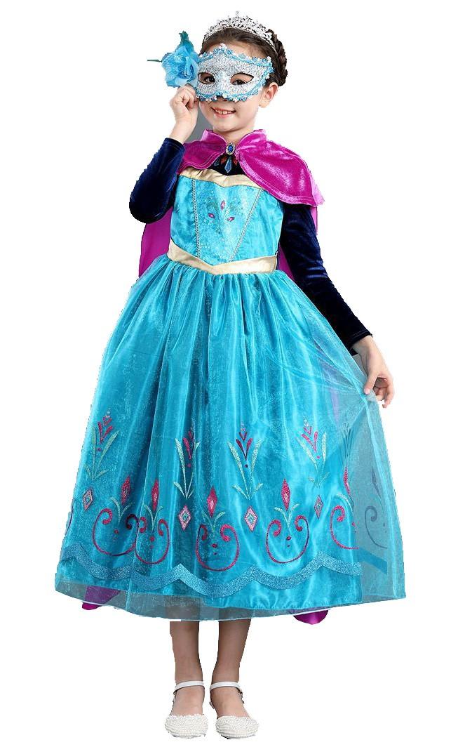 Frozen Anna Kjole Barn Søt Prinsessekostyme