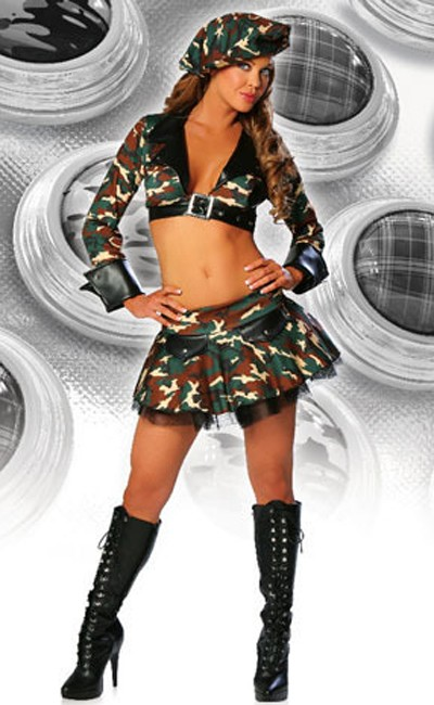 Sexy Militær Army Kostyme