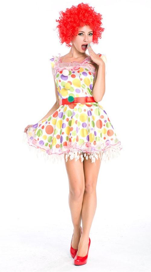 Sirkus Klovne Kostyme Dame