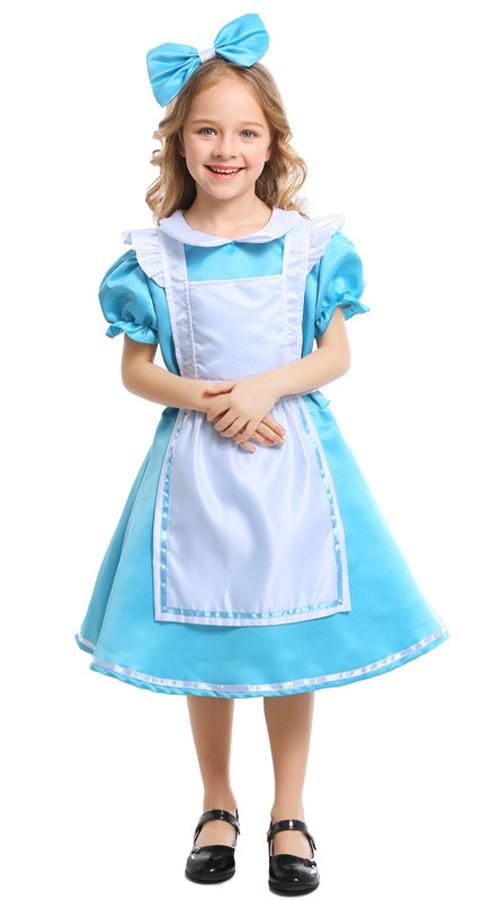 Barn Alice Kostyme Alice i Eventyrland Kostymer