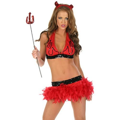 Rød Halloween Djevel Kostyme