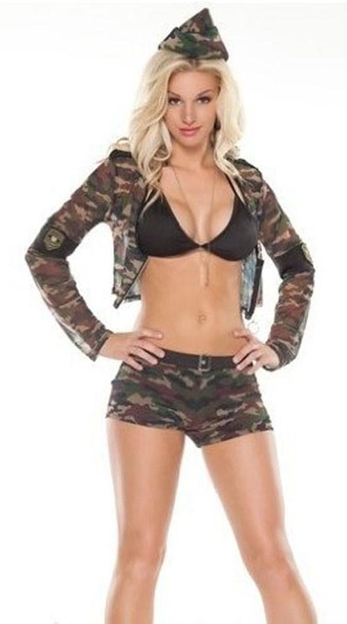 Sexy Militær Jente Kostyme