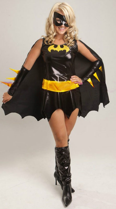 Svart Superhelt Batgirl Kostyme For Halloween