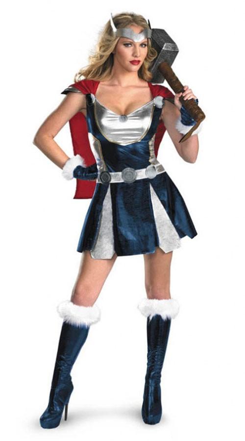 Sassy Thor Superhelt Kostyme Dame
