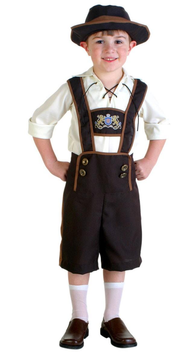 Tyroler Kostyme Gutter Oktoberfest Lederhosen Barn