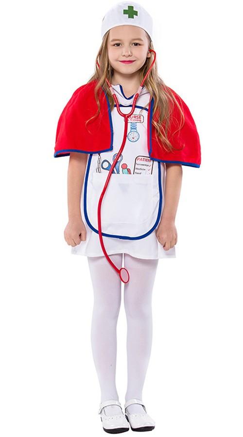 Barn Halloween Lege Sykepleier Kostyme for Jenter