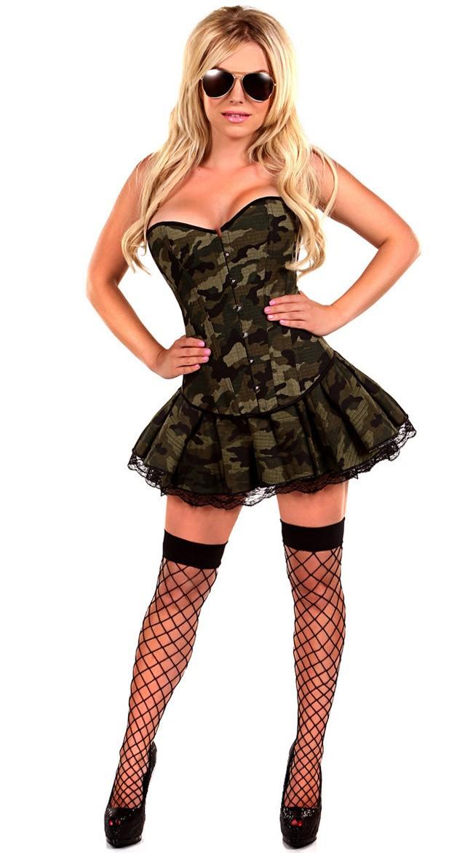 Korsetter Militær Jente Kostyme