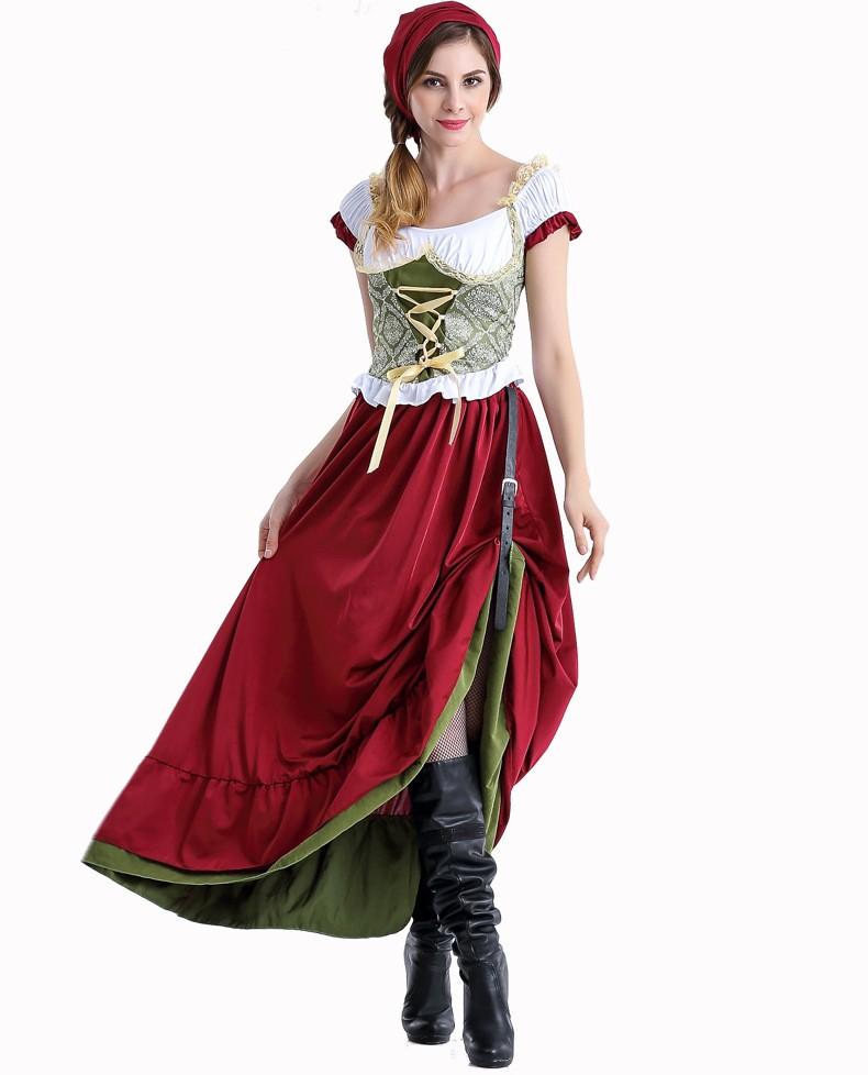 Renessanse Lang Oktoberfest Kostyme