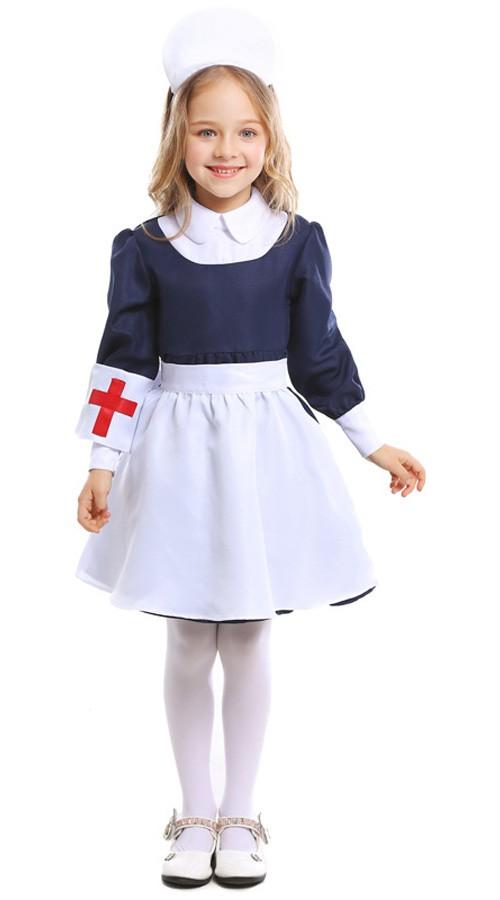 Super Søte Lege Sykepleier Kostyme for Jenter