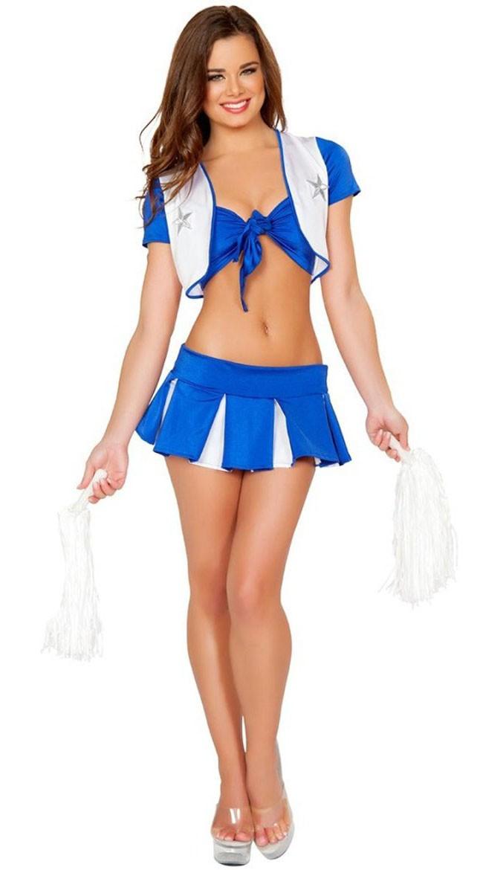 Eksklusiv Sexy Halvtid Cheerleader Kostyme