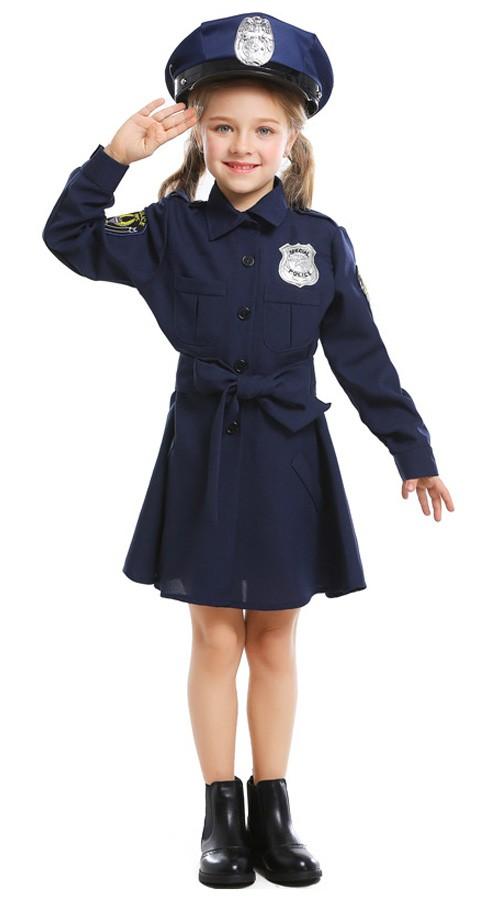 Politi Kostyme til Jenter Karnevalskostyme Barn