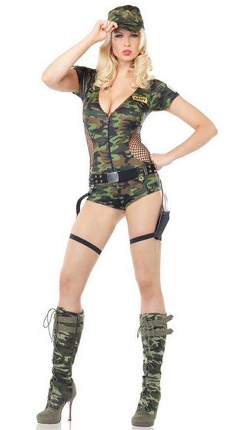 Militær Kamuflasje Kostyme