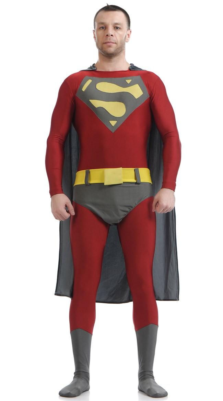 Superhelt Kostyme Lycra Spandex Superman Kostyme