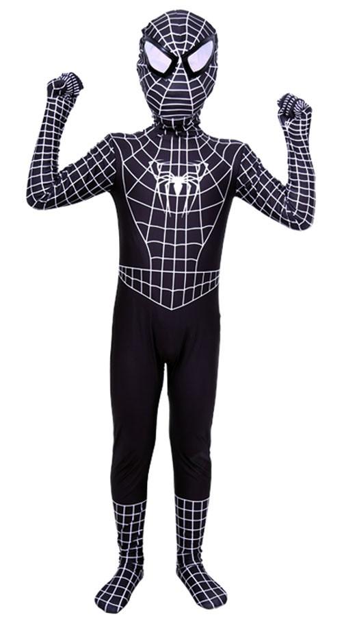 Klassisk Lycra Spiderman Kostyme Barn Svart 84c38df23f7c0