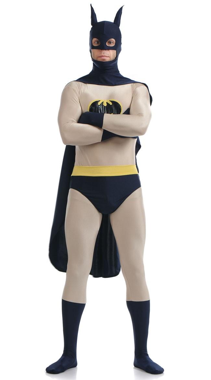 Klassisk Skinnende Batman kostyme Voksen