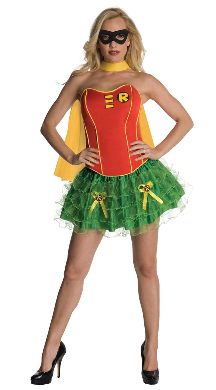 Sexy Korsett Robin Kostyme Med Kappe