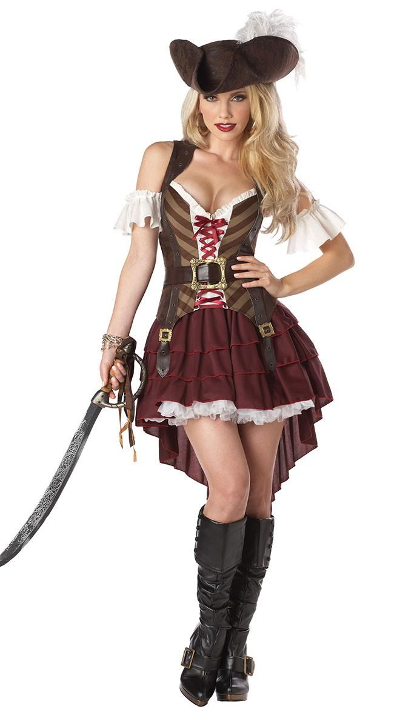 Sexy Swashbuckler Pirat Kostyme Voksen