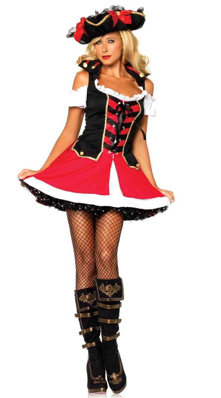 Rød Admiral Kostyme Pirat Kostyme