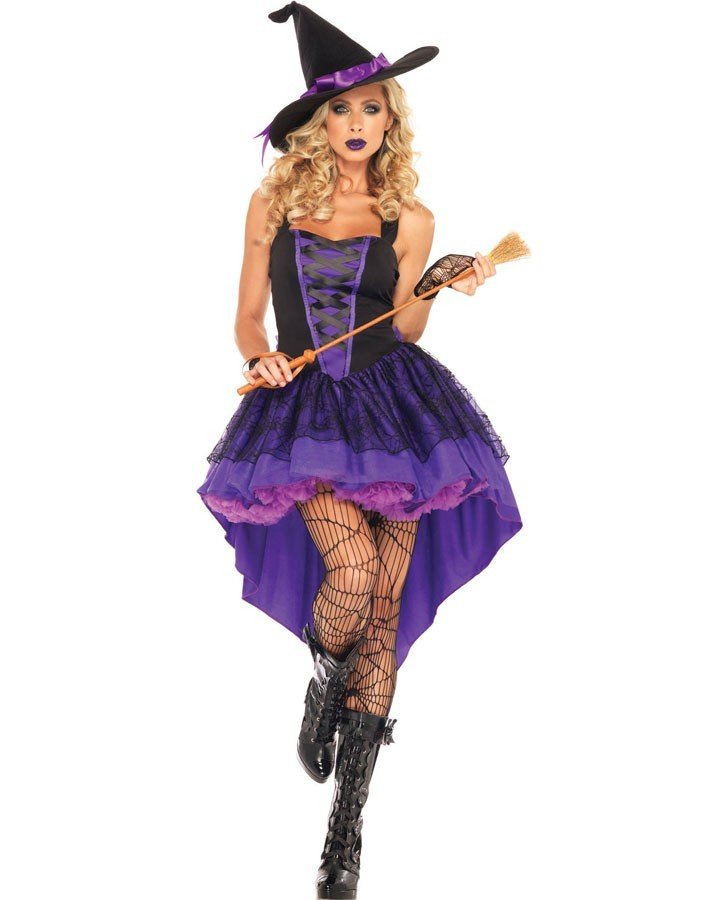 Broomstick Babe Halloween Heks Kostyme