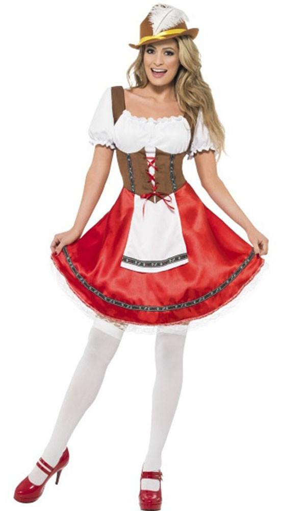 Bavarian Wench Oktoberfest Kostyme Stuepike Kostyme
