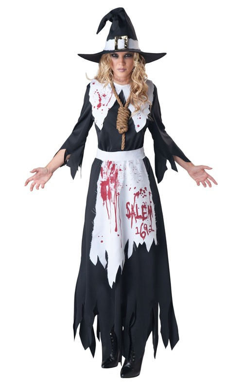 Svart Salem Heks Kostyme