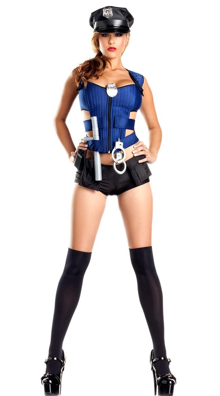 Sexy Nybegynner Politi Kostyme