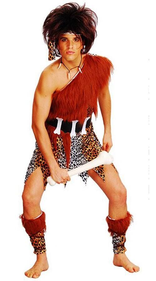 Voksen Huleboer Kostyme Indianer Kostymer Herre
