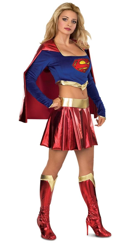 Supergirl Kostyme Metallisk Superwoman Kostyme