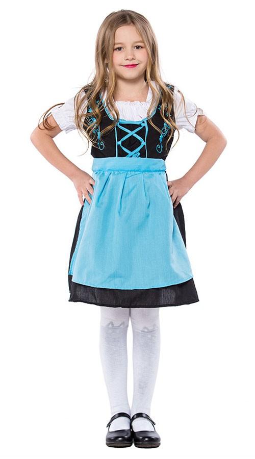 Brodert Oktoberfest Kostyme For Barn Tyrolerkjole Jente