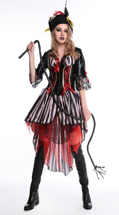 Skjønnhet Halloween Piratkaptein Kostyme