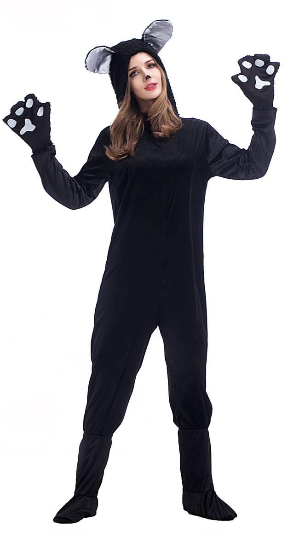 Svart Katt Kostyme Til Dame