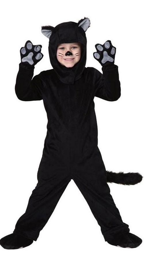 Svart Katt Kostyme Til Barn