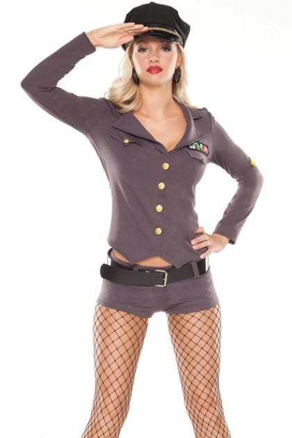 Sexy Politi Militære Kostyme