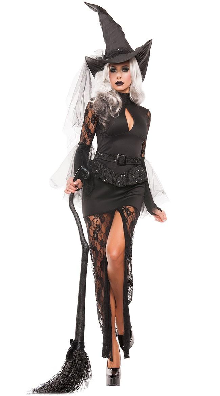 Halloween Glam Heks Kostyme