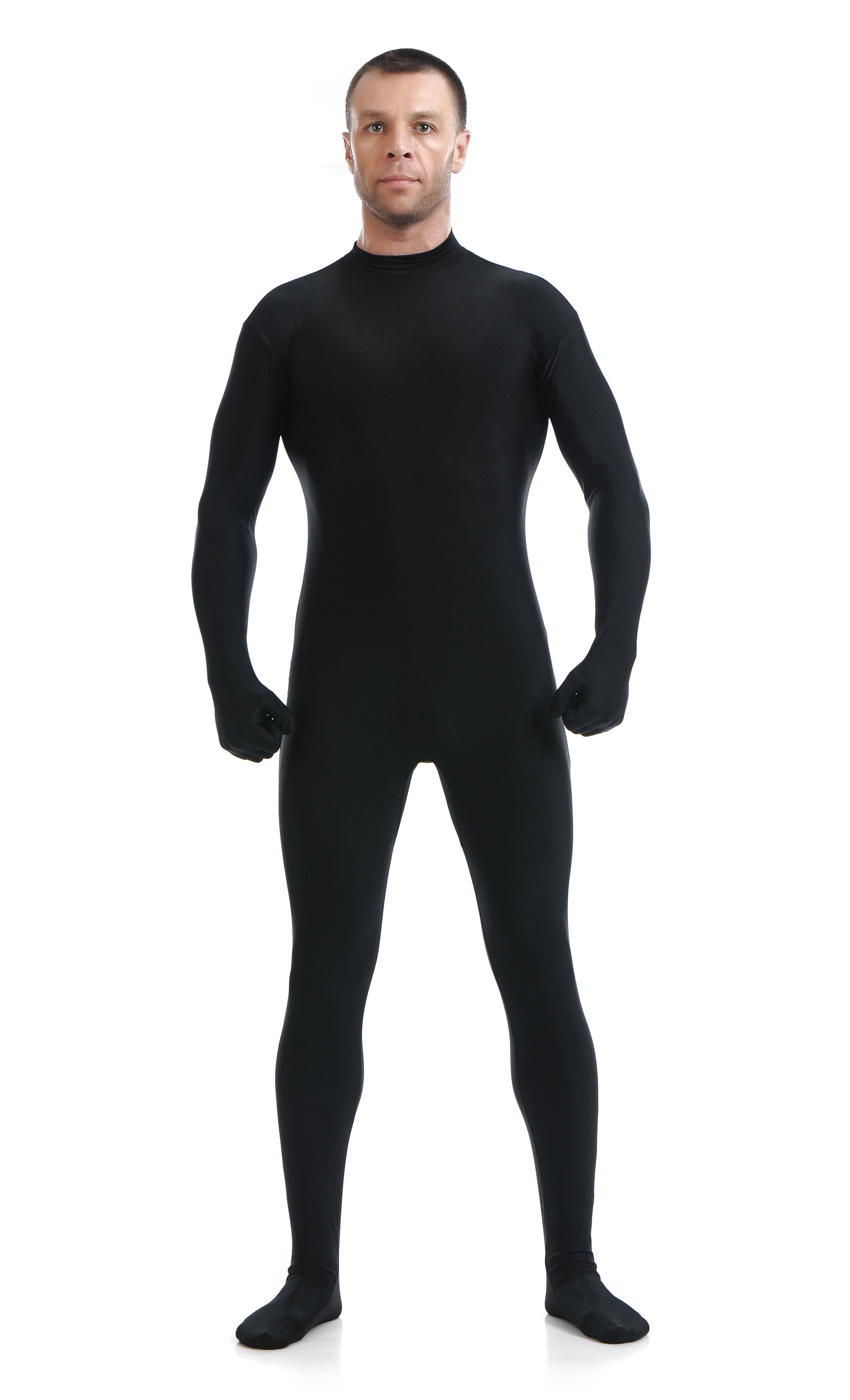 Morphsuit Lycra Spandex Drakt Second Skin Kostyme Mann Svart