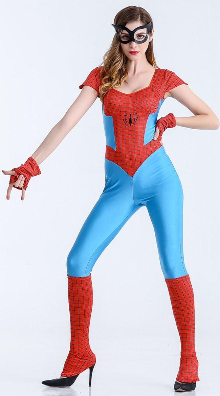 Sassy Spidergirl Kostyme Superhelt Kostyme